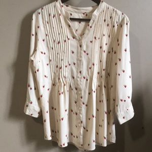 Coldwater Creek Strawberry Blouse / Shirt